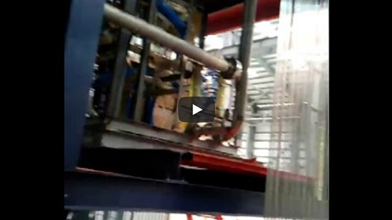 Steel strapping induction heating blue production line